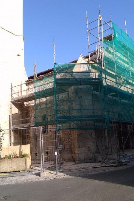 Eglise de Nieul sur mer : les travaux ont commencé