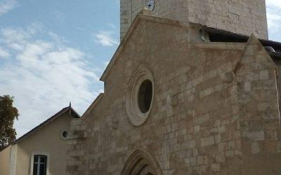 Nieul sur mer : la façade de l'église rénovée !